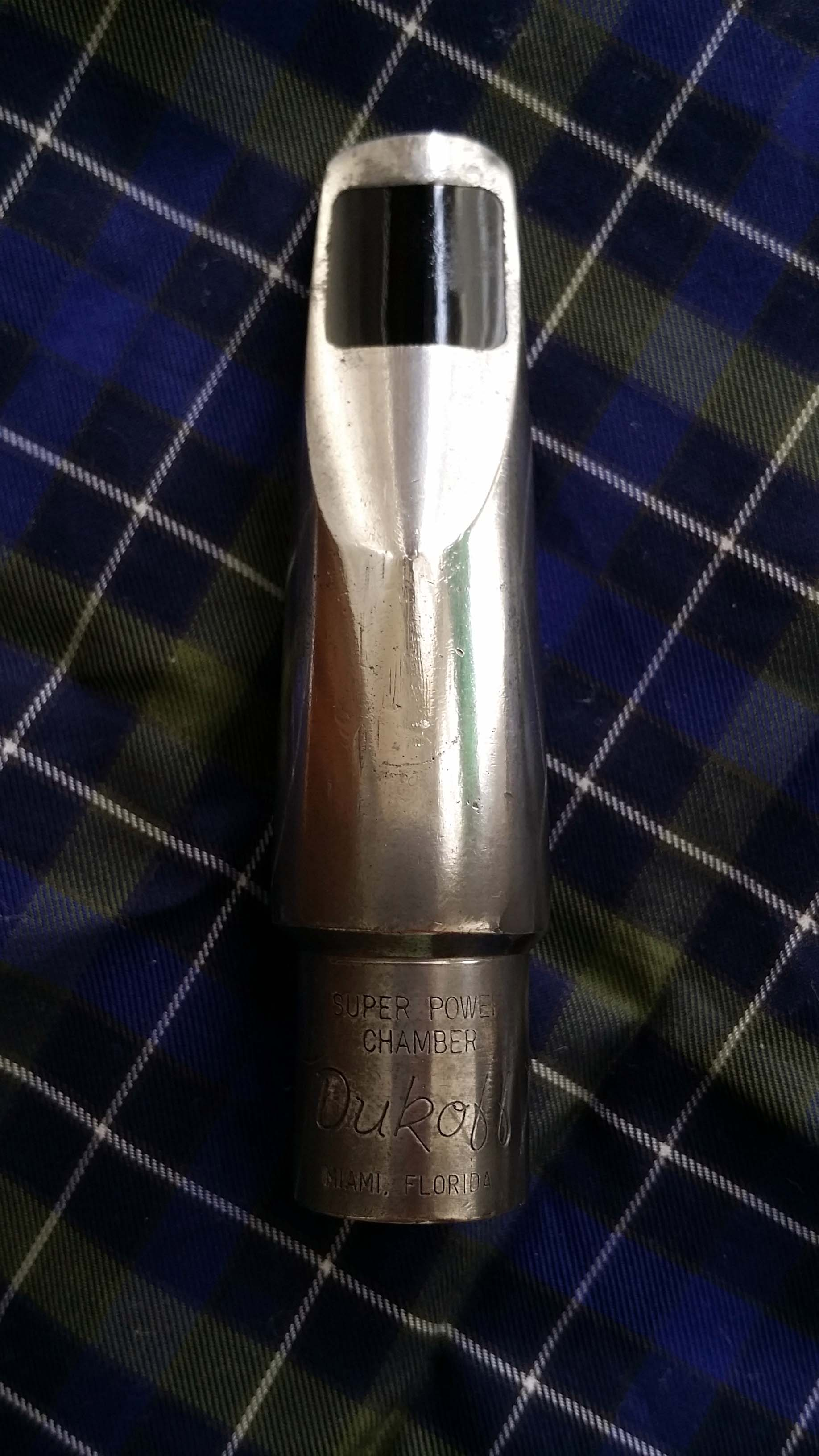 Alt sax mouthpiece Bobby Dukoff 6D with ligature and cup